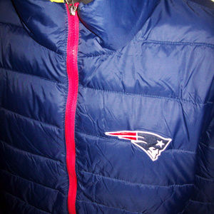 NEW ENGLAND PATRIOTS Puffer NFL Jacket 2X Blue